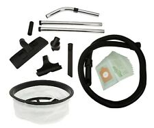 """1.8 Metre Hose Tool Kit & 12"""" Cloth Filter For Henry Vacuum Cleaners + Free Bags"""