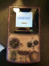 Nintendo Game Boy Color with backlight mod - Atomic Purple.