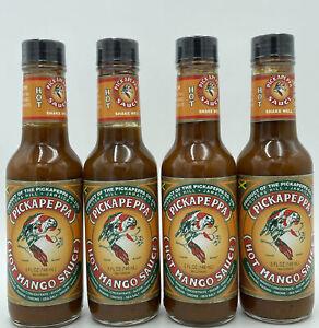 Pickapeppa Hot Mango Sauce 5  Ounces ( 4 Bottles)