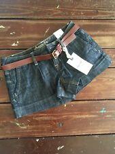 NWT $49 American Rag Denim Shorts With Belt Size 1.