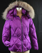 Coach Authentic Legacy Orchid XS Puffer Short Jacket Coat Fur Trimmed Hood NWT
