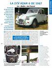 2 CV Citroën AZAM 6 Belgique Luxe Moteur Ami 6 Belge 1967 Car Auto FICHE FRANCE