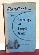 Handbook for Genealogy and Temple Work 1952 LDS Mormon Rare Vintage PB
