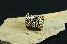 Hair Beard Bead Celtic Knots Bronze with Rubber Pearl Viking Jewellery Pearl