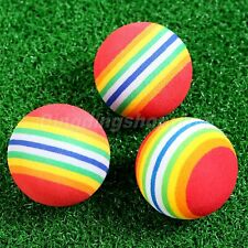 Soft Golf Training Ball Light-weight Flexible EVA Sponge Practice Rainbow Ball