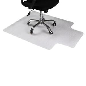 "48x 36"" PVC Floor Mat Protector Carpet for Home Office Desk Chair Transparent"