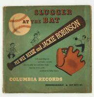 "PEE WEE REESE & JACKIE ROBINSON ""Slugger At The Bat"" BROOKLYN DODGERS 78rpm x2"