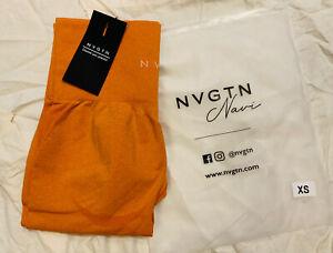 NVGTN Sunburnt Orange Contour Seamless Leggings Size XS New In Stock