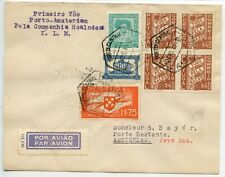 """Portugal 1940.4.2 First airmail cover Porto-Amsterdam """"Bayer"""" cover - b/s LISBOA"""
