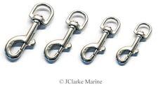 Dog lead trigger snap hook hooks 62 75 87 90 A4 316 stainless steel marine grade