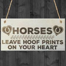 Horses Rustic Decorative Plaques & Signs