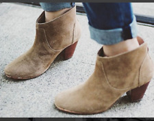 H By Hudson Biege Kiver Leather Heeled Ankle Slip On Boots 2 To 8 New