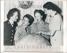 1948 Women's Armed Services Chiefs With Global Map Washington DC Press Photo