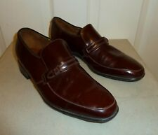 QUALITY BARKER BROWN LEATHER SLIP ON SHOES Size 8 , E NARROW FIT