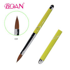 1Pc Special Metal Handle Touch Screen Head Pure Acrylic Kolinsky Nail Brush 10#