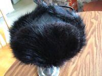 Genuine Leather and Mink Genuine Fur Russian Ushanka hat