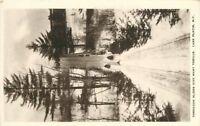 Lake Placid New York Toboggan fun Photo Postcard Santway 722