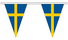 Sweden 5M Triangle Flag Bunting - 12 Flags - Triangular