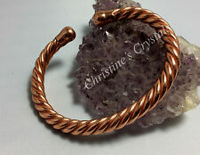 Solid Copper MAGNETIC ROPE Bracelet - Healing Arthritis Pain Relief ( S4 )