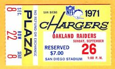 MINT/SHARP! 9/26/71 RAIDERS/CHARGERS TICKET STUB-RAIDERS WON, 34-0/KEN STABLER