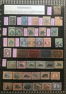 STAMPS GUATEMALA 1875+=DIFFERENT/NICE=Mint/Used 2 pgs#01978