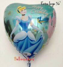 "Disney Cinderella 36"" Heart Helium Balloon Princess Party Any occasion"