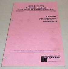 Werkstatthandbuch Peugeot 605 Elektronische Dämpferregelung Stand 02/1990