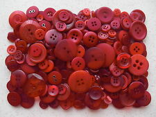 Dark red buttons mixed sizes 100 grams