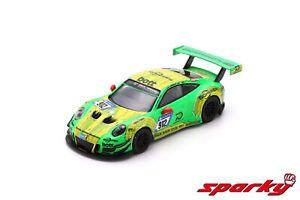 1/64 Sparky Porsche 911 GT3 R N°912 1er 24H Nürburgring 2018 R.Lietz Liv Domicil