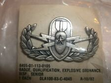 SENIOR EXPLOSIVE ORDNANCE DISPOSAL BADGE--EOD--NIP