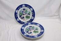 "Century Xmas Snowmen Dinner Plates 10.5"" Set of 4"