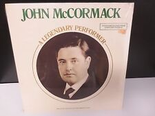 "JOHN McCORMACK A LEGENDARY PERFORMER 12"" SEALED LP RECORD MONO RED SEAL"