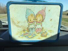 Vintage Metal Lunchbox Blue Hallmark Precious Moments w Thermos Rare ©1969 #2