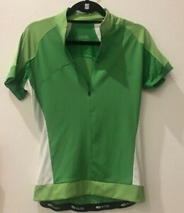 Women's large green sugoi short sleeve cycle jersey zip 21-1008