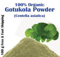 100%Organic Centella Asiatica PURE Gotu Kola Powder For Anxiety,Calm Mind Free