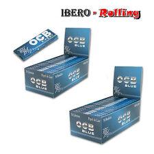 OCB AZUL X-PERT BLUE 2X CAJAS DE 50 LIBRITOS. ROLLING PAPER PAPEL LIAR