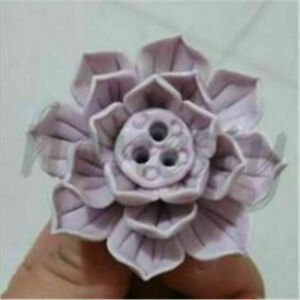 1pc 1/3 Holes Ceramic Incense Burner Stick Holder Lotus Catcher Plate  Natural