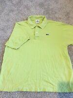 Lacoste Mens Size 7 Polo Shirt Light Green S/S Crocodile Logo