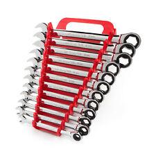 TEKTON Flex Ratcheting Combination Wrench Set, 12-Piece (8-19 mm) - Holder