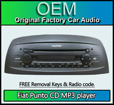 Fiat Punto CD MP3 player, Fiat car stereo with radio code + removal keys