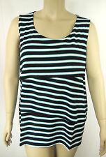 Autograph Black Stripe Tiered Sleeveless Tunic Top Tshirt Plus Size 26 BNWT #N8