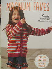 PANDA KIDS KNITS MAGNUM FAVES KNITTING PATTERN BOOK,NO 305,NEW