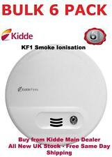 Pack of 6 Kidde KF10 Ionisation Mains Smoke Detectors Alarms (was Firex 4870)