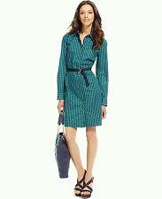 New $80 TOMMY HILFIGER Womens Sz. XL Belted Shirt-Dress Button-Front Long Sleeve