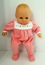 "American Girl Bitty Baby Pleasant Co with Pink Sleeper 15"" Blonde Hair Blue Eyes"