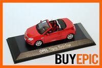 Minichamps Opel Tigra B Twin Top 1:43, Magmarot, Modellauto, NEU&OVP
