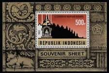 Indonesia postfris 1983 MNH block 49 - Restauratie Borobudur