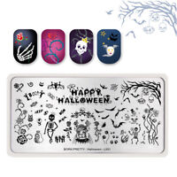 BORN PRETTY Stamping Template Nail Art Stamp Plate Zombie Bride Bat Halloween