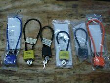 Gun Rifle Pistol Handgun Cable Locks Set Of Six Different Sizes w/ Keys