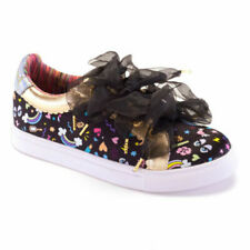 Irregular Choice 'Wonderful Wanderer' (E) Black Flatform trainers Shoes